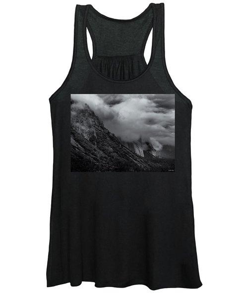 Yosemite Valley Panorama In Black And White Women's Tank Top