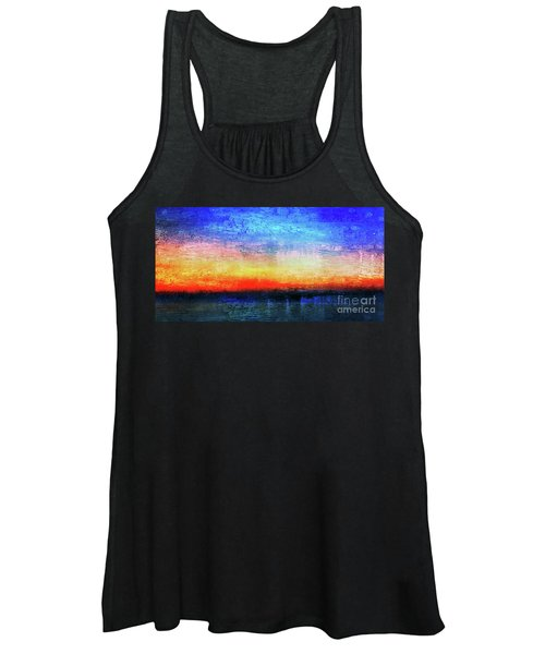 15a Abstract Seascape Sunrise Painting Digital Women's Tank Top