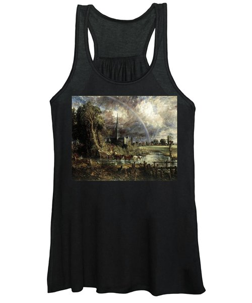 Salisbury Cathedral From The Meadows Women's Tank Top