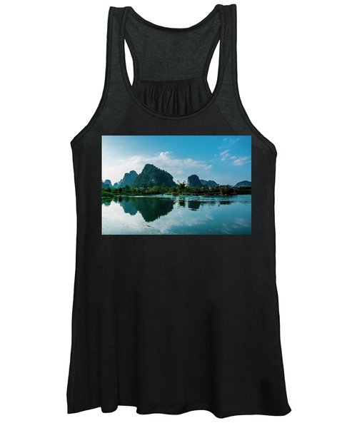 The Karst Mountains And River Scenery Women's Tank Top