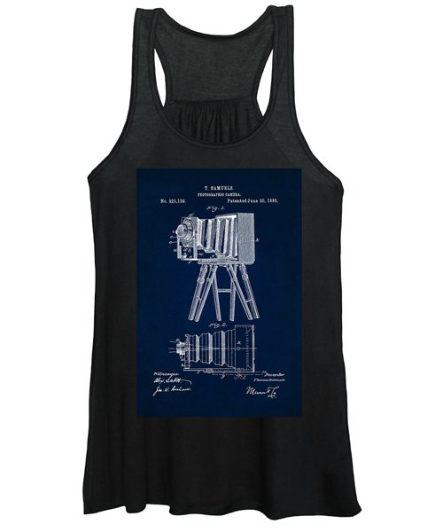 1885 Camera Us Patent Invention Drawing - Dark Blue Women's Tank Top