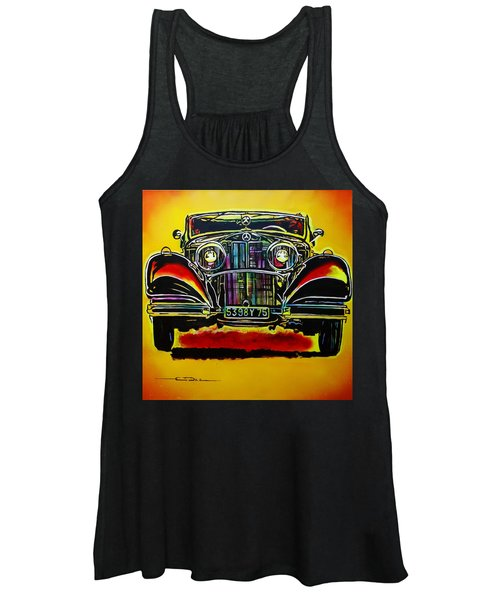 1937 Mercedes Benz First Wheel Down Women's Tank Top