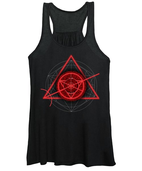 Occult Magick Symbol On Red By Pierre Blanchard Women's Tank Top