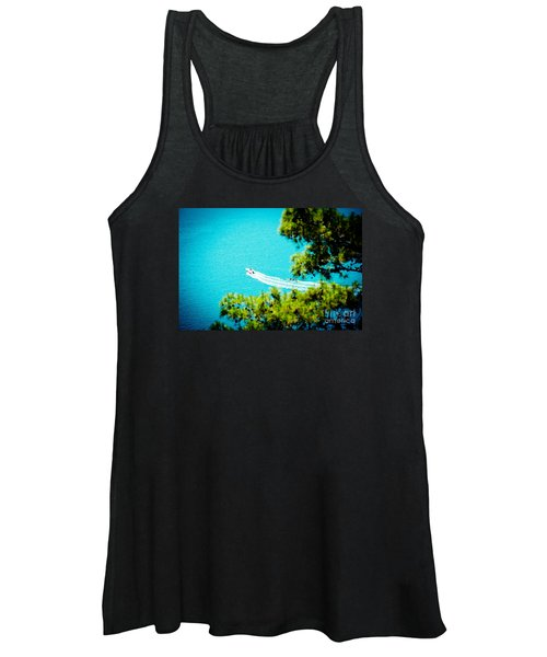 Pine Forest Over Sea Seascape Artmif.lv Women's Tank Top