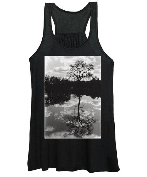 Tree Reflection Sebastopol Ca, Women's Tank Top