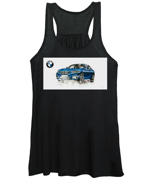 2014 B M W 2 Series Coupe With 3d Badge Women's Tank Top