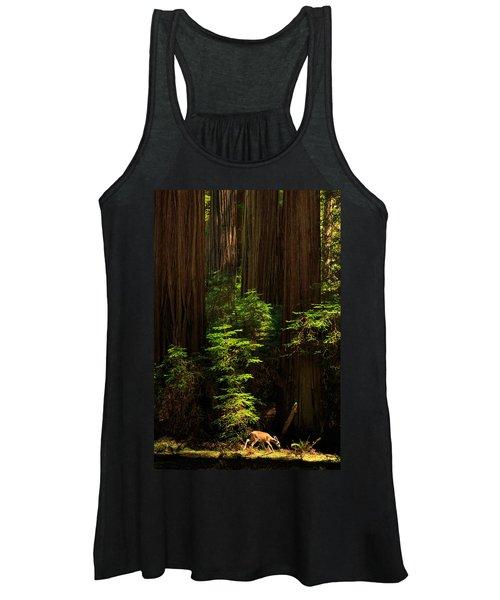 A Deer In The Redwoods Women's Tank Top