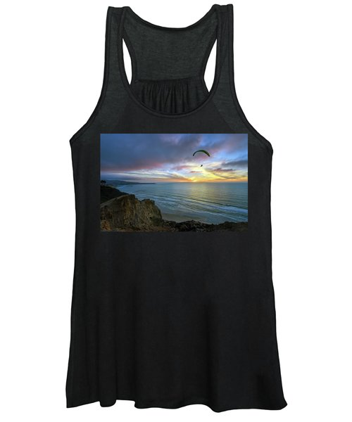 A Hang Glider And A Sunset Women's Tank Top