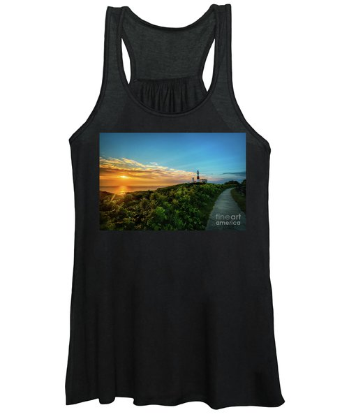 A Montauk Lighthouse Sunrise Women's Tank Top