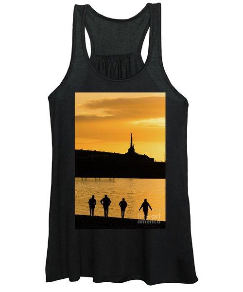 Aberystwyth Sunset Silhouettes Women's Tank Top