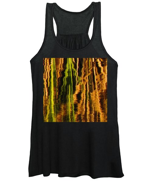 Abstract Reeds Triptych Middle Women's Tank Top