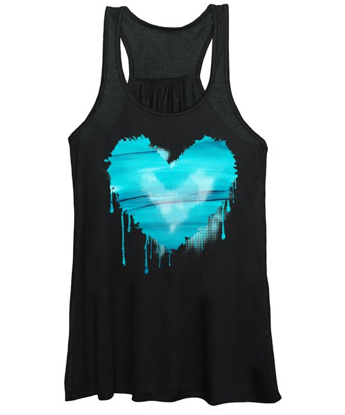 Adrift In A Sea Of Blues Abstract Women's Tank Top