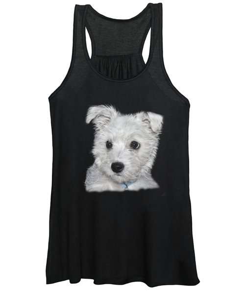 Alert Puppy On A Transparent Background Women's Tank Top