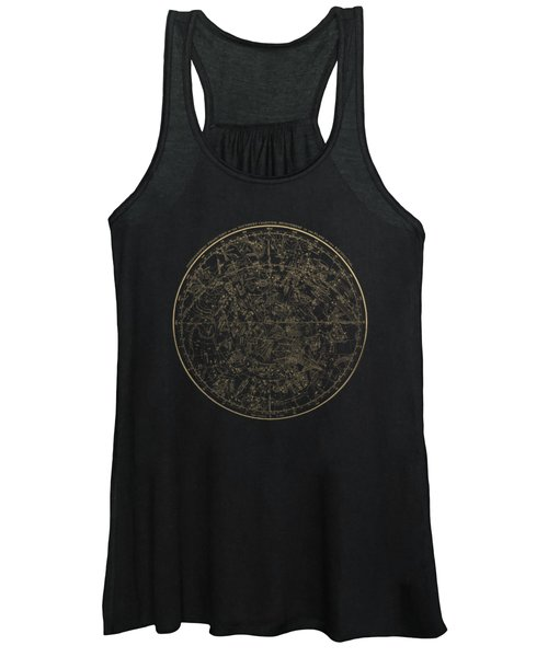 Alexander Jamieson's Celestial Atlas - Southern Hemisphere Gold On Black Edition Women's Tank Top