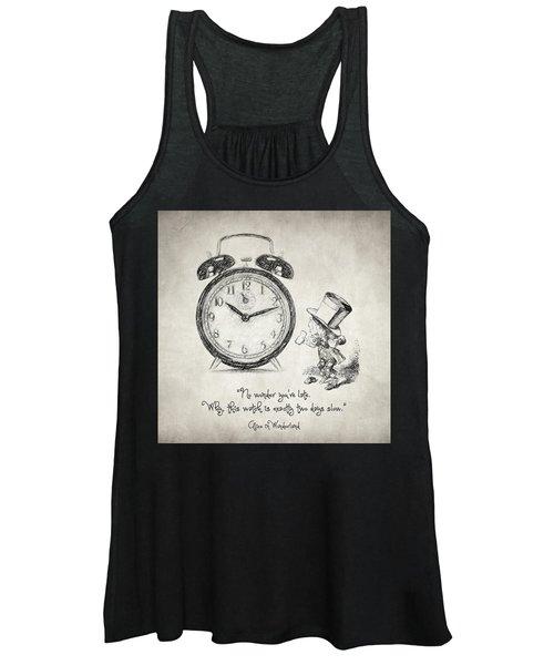 Alice In Wonderland Quote Women's Tank Top