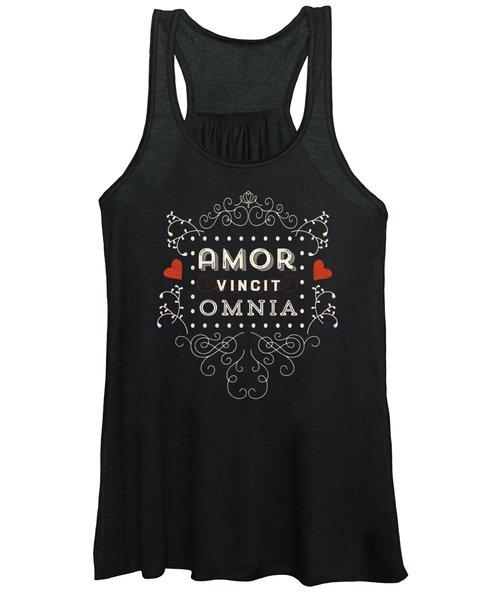 Amor Vincit Omnia Chalkboard Style Women's Tank Top