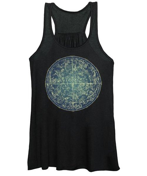 Antique Constellation Of Northern Stars 19th Century Astronomy Women's Tank Top