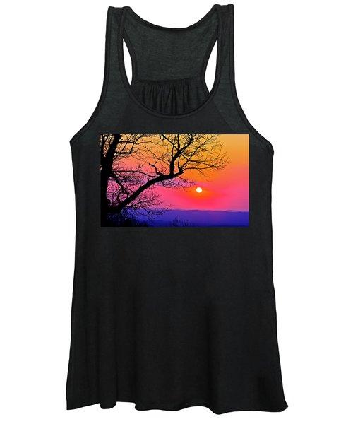 Appalcahian Sunset Tree Silhouette  #1 Women's Tank Top