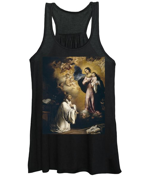 Apparition Of The Virgin To Saint Bernardo  Women's Tank Top