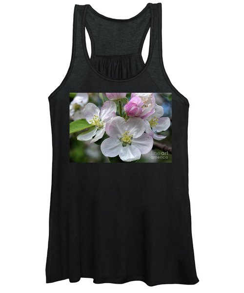Apple Blossoms Closeup Women's Tank Top