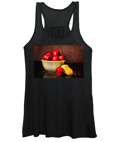 Apples In Bowl With Pear Women's Tank Top
