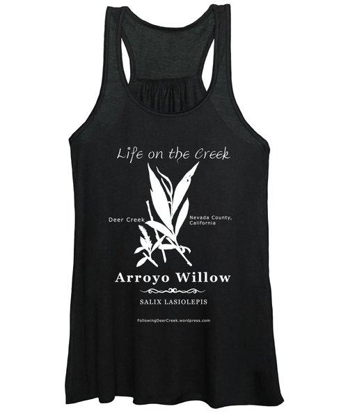 Arroyo Willow - White Text Women's Tank Top