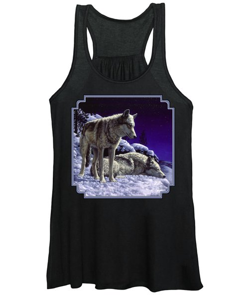 Wolf Painting - Night Watch Women's Tank Top