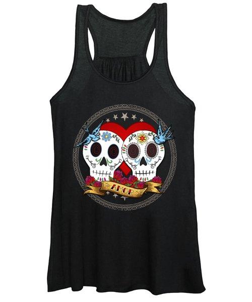Love Skulls II Women's Tank Top