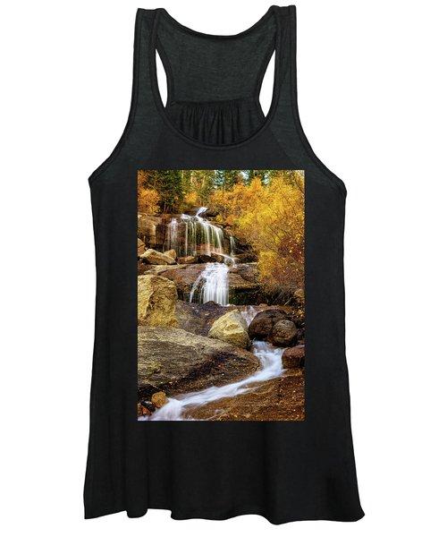 Aspen-lined Waterfalls Women's Tank Top