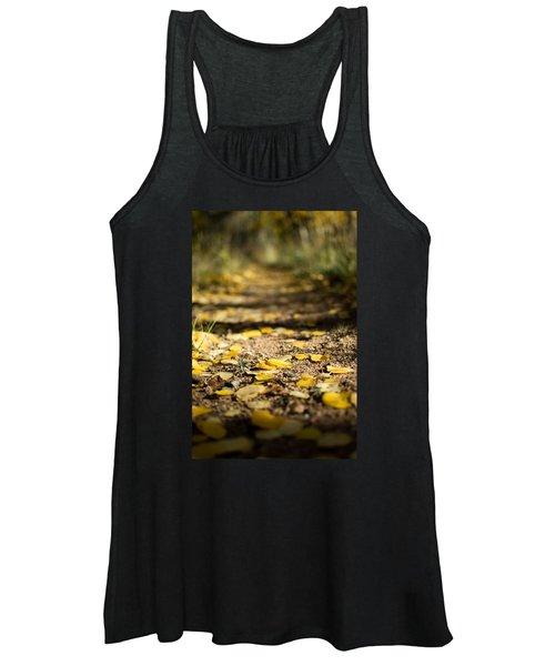 Aspen Leaves On Trail Women's Tank Top