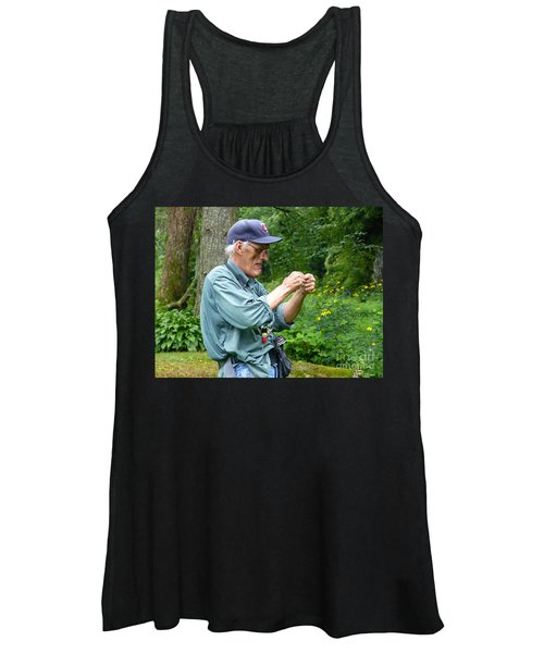Attaching The Lure Up Close Women's Tank Top