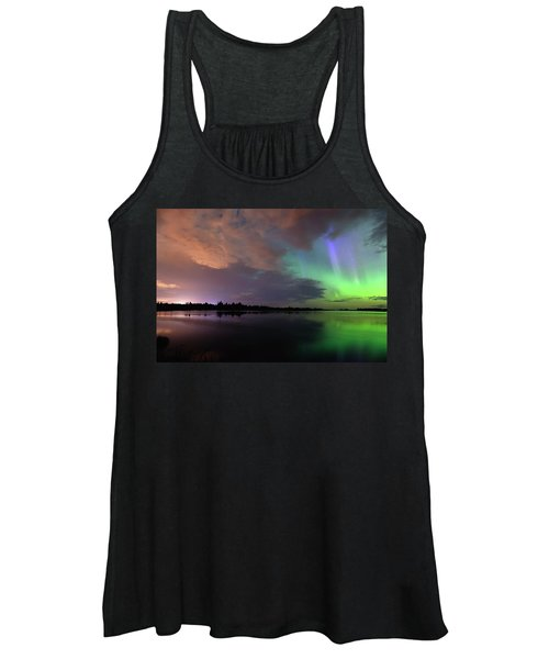 Aurora And Storm Clouds Women's Tank Top