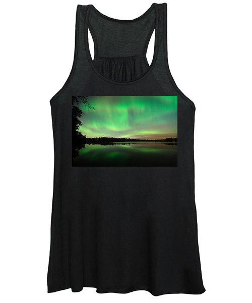 Aurora Over Tofte Lake Women's Tank Top