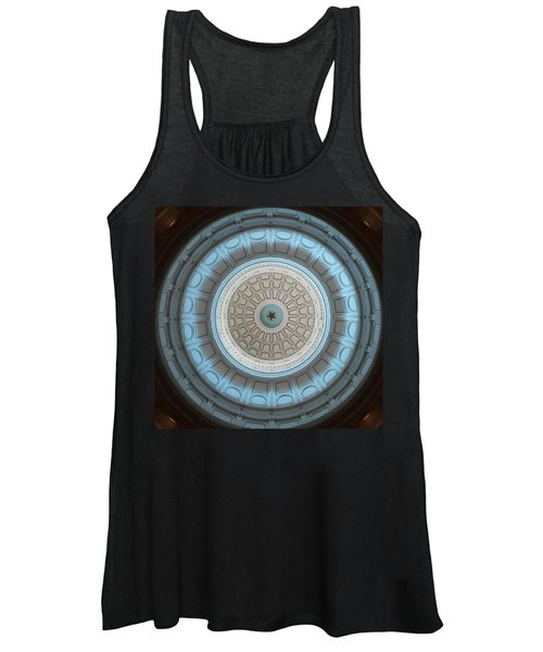 Austin Capitol Dome In Gray And Blue Women's Tank Top