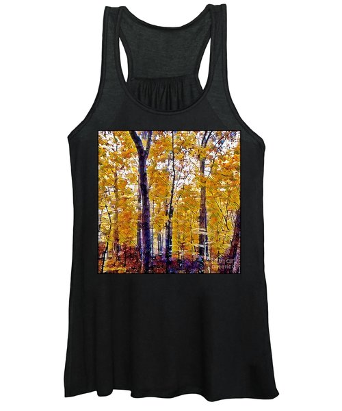 Autumn  Day In The Woods Women's Tank Top