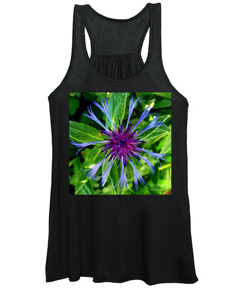 Bachelor Button Blossom Women's Tank Top
