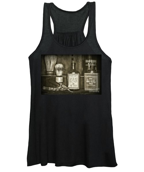 Barber-after The Shave Retro Style Women's Tank Top