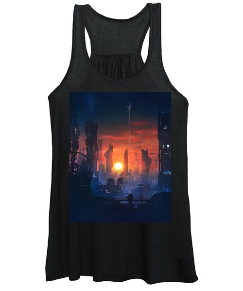 Barcelona Smoke And Neons The End Women's Tank Top