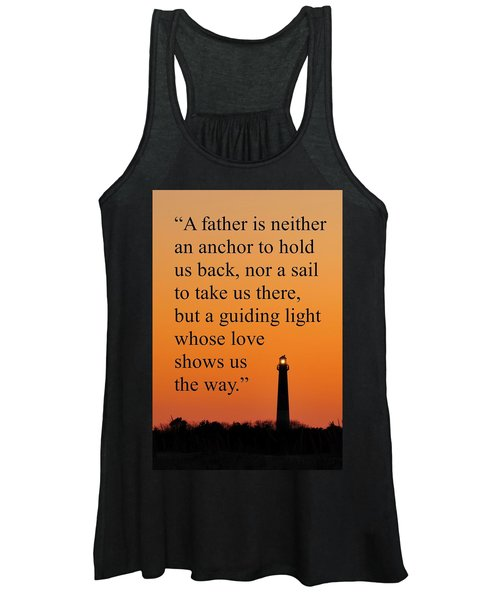 Barnegat Lighthouse With Father Quote Women's Tank Top