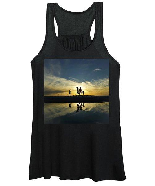 Beach Dancing At Sunset Women's Tank Top