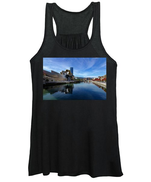 Bilbao In Autumn With Blue Skies Next To The River Nervion Women's Tank Top