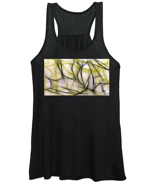 Black And Green Abstract Women's Tank Top