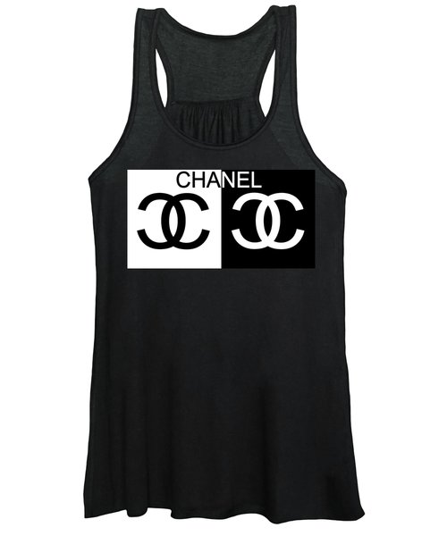 Black And White Chanel Women's Tank Top