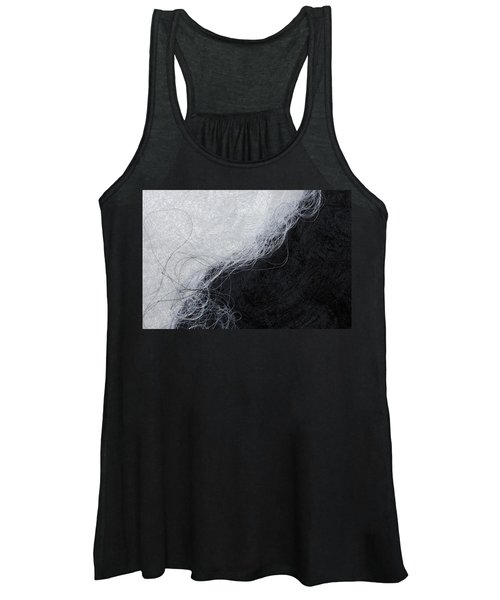 Black And White Fibers - Yin And Yang Women's Tank Top
