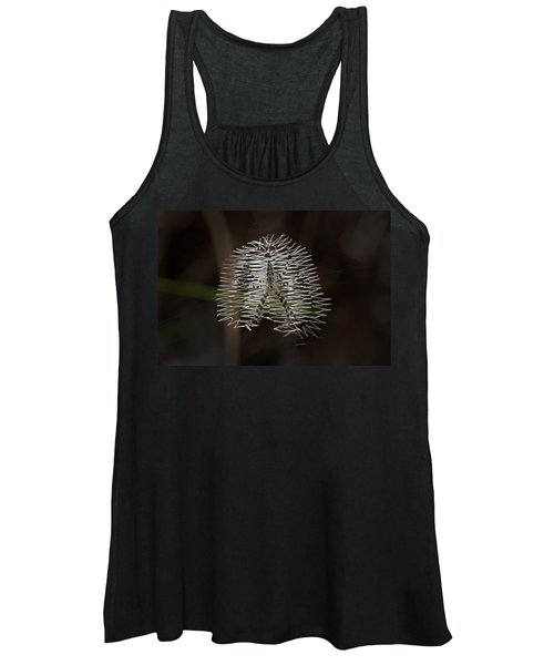 Black And Yellow In White And Black Women's Tank Top