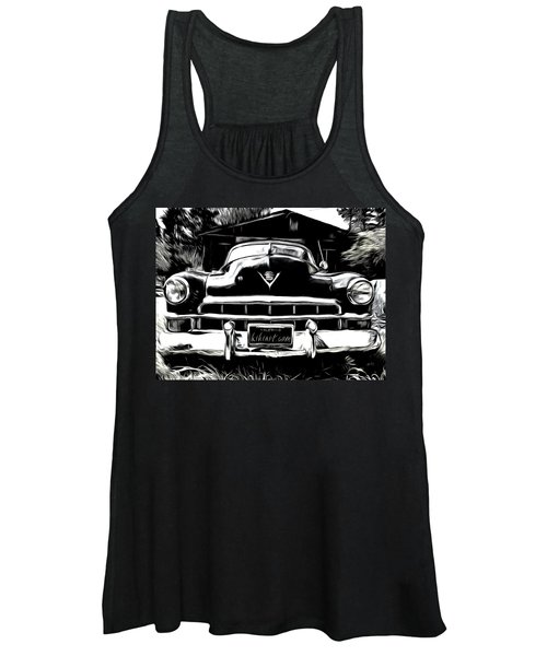 Black Cadillac Women's Tank Top