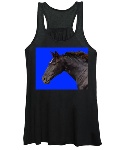 Black Horse Spirit Blue Women's Tank Top
