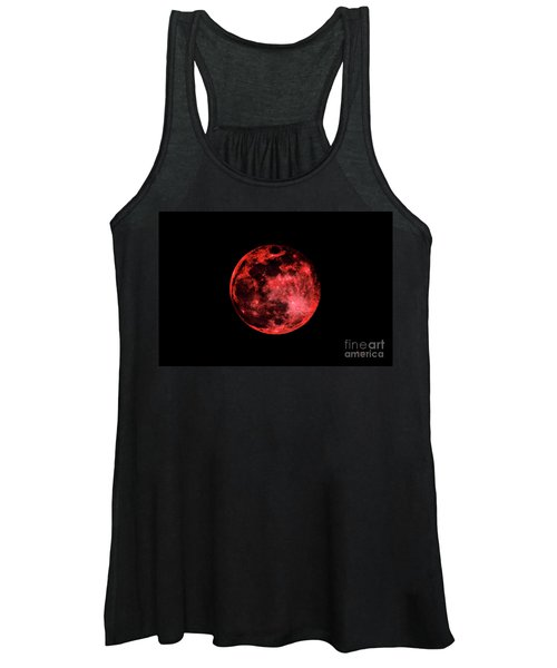 Blood Red Moonscape 3644b Women's Tank Top