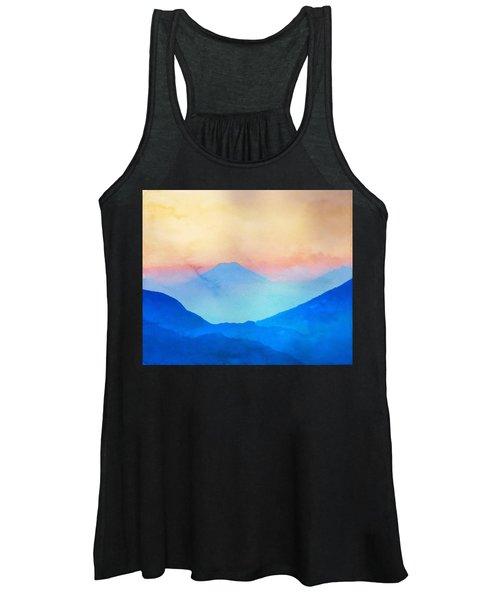 Blue Mountains Watercolour Women's Tank Top