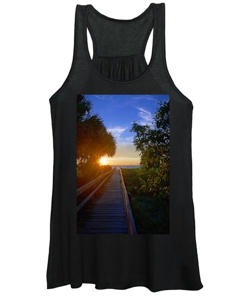 Sunset At The End Of The Boardwalk Women's Tank Top